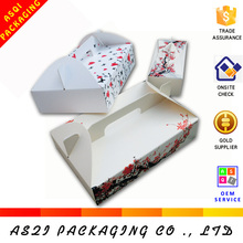 custom hot sale top open easy fold fancy cupcake box with handle