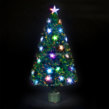 star lights christmas tree plastic base 4ft eco friendly pvc fiber optic christmas tree