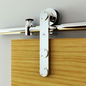 Rustic new style stainless steel glass sliding barn door hardware kit system