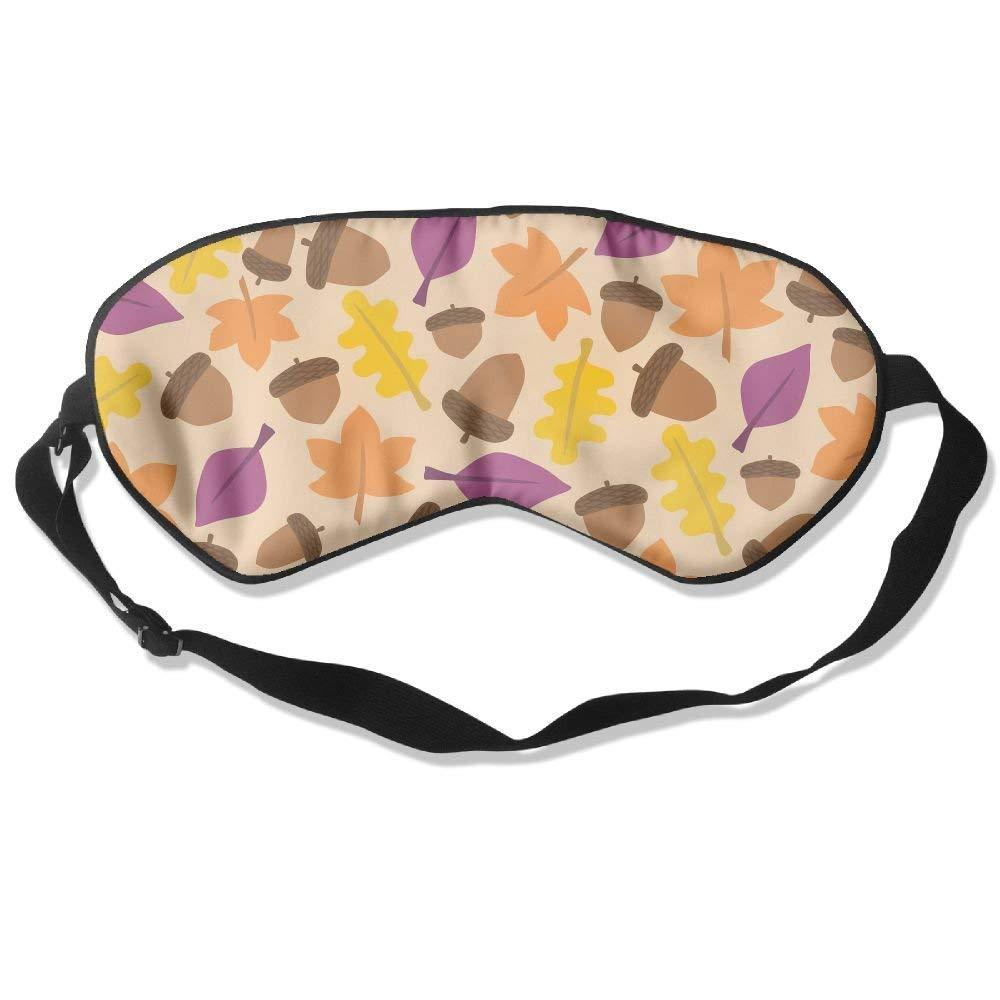 Madge Kelley Eye Mask Adjustable-Strap Eyeshade Sleeping Mask Skin-Friendly Fall Leaves Blindfold Night Sleep Travel
