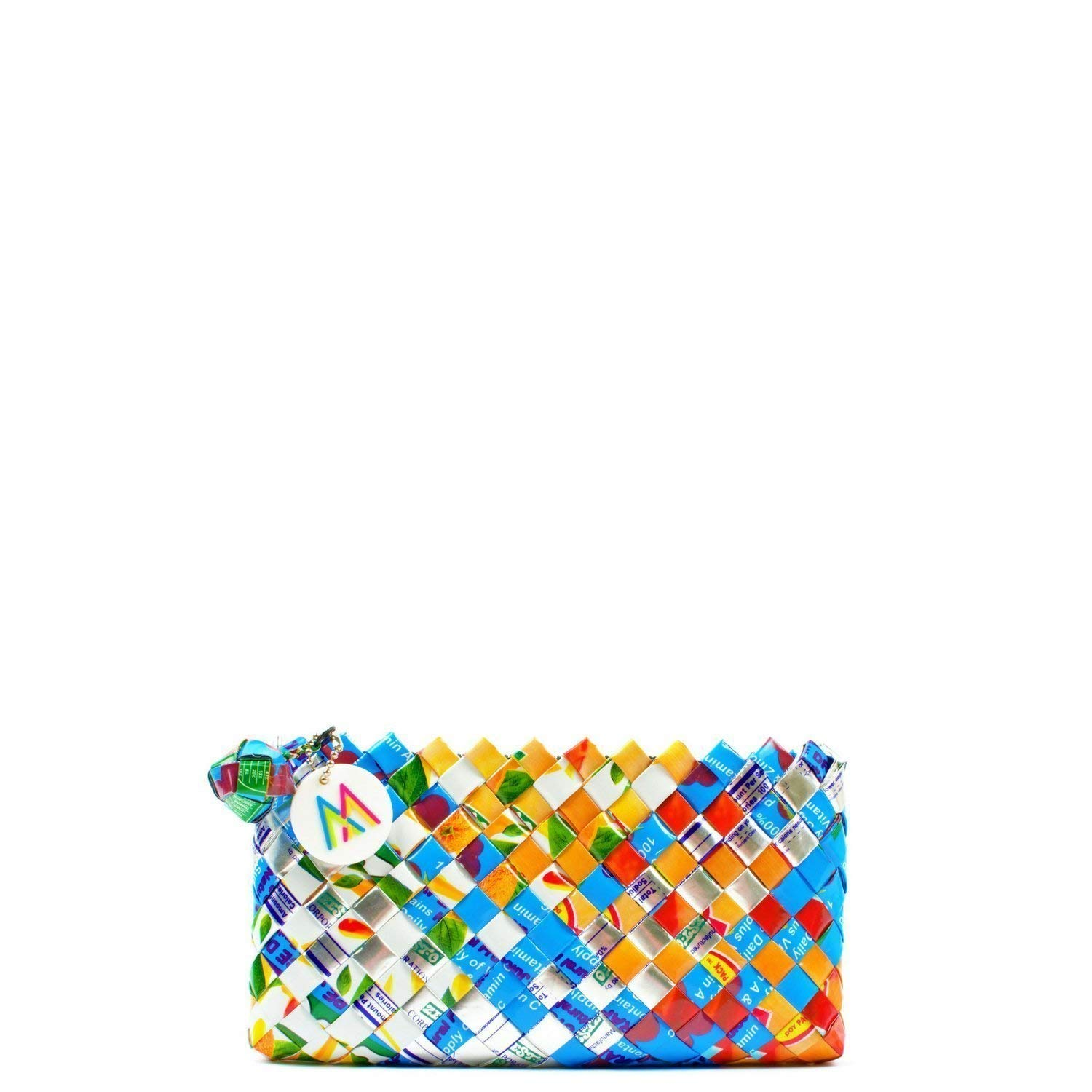 Handmade, Eco-friendly Mini Clutch Woven from Upcycled Materials