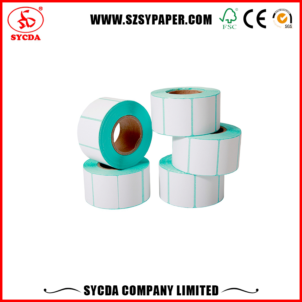2 Row Thermal Paper Sticker Lables adhesive label roll With Reasonable Price