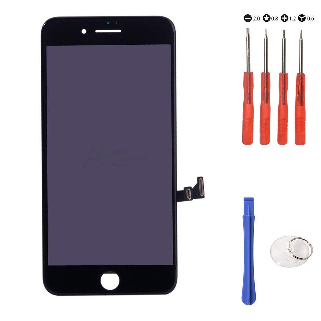 """Touch Screen Digitizer Assembly Replacement for iPhone 8 Plus 5.5"""" Black Glass LCD Display FREE Repair Tool Kits & Screen Protector Film US Ship"""