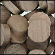"WIDGETCO 3/4"" Walnut Wood Plugs, Face Grain"