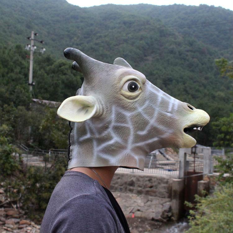 Baru Hotsale Pesta Karnaval Hewan Lateks Topeng Kepala ...