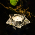 little star shape crystal candle for baptism gift