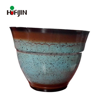 Wholesale round plastic planter bowls terracotta flower pots