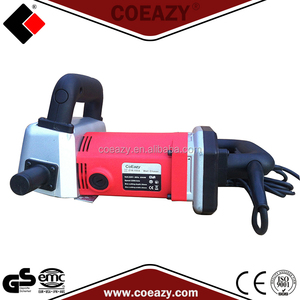Dust free portable wall chaser with concrete cutter