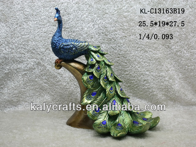 2013 Home Deco Polyresin Peacock, Resin Crafts for Gifts