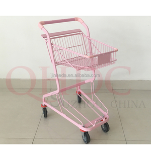 Suzhou QHDC colorful shopping cart pink trolley