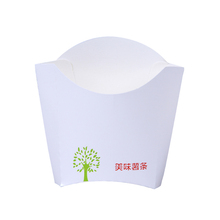 Eco-Friendly Custom Take Away Disposable Box Fried Potato Chips Paper Packaging