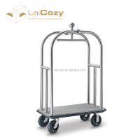 LAICOZY Hotel Furniture 304 Stainless Steel Lobby Luggage Cart