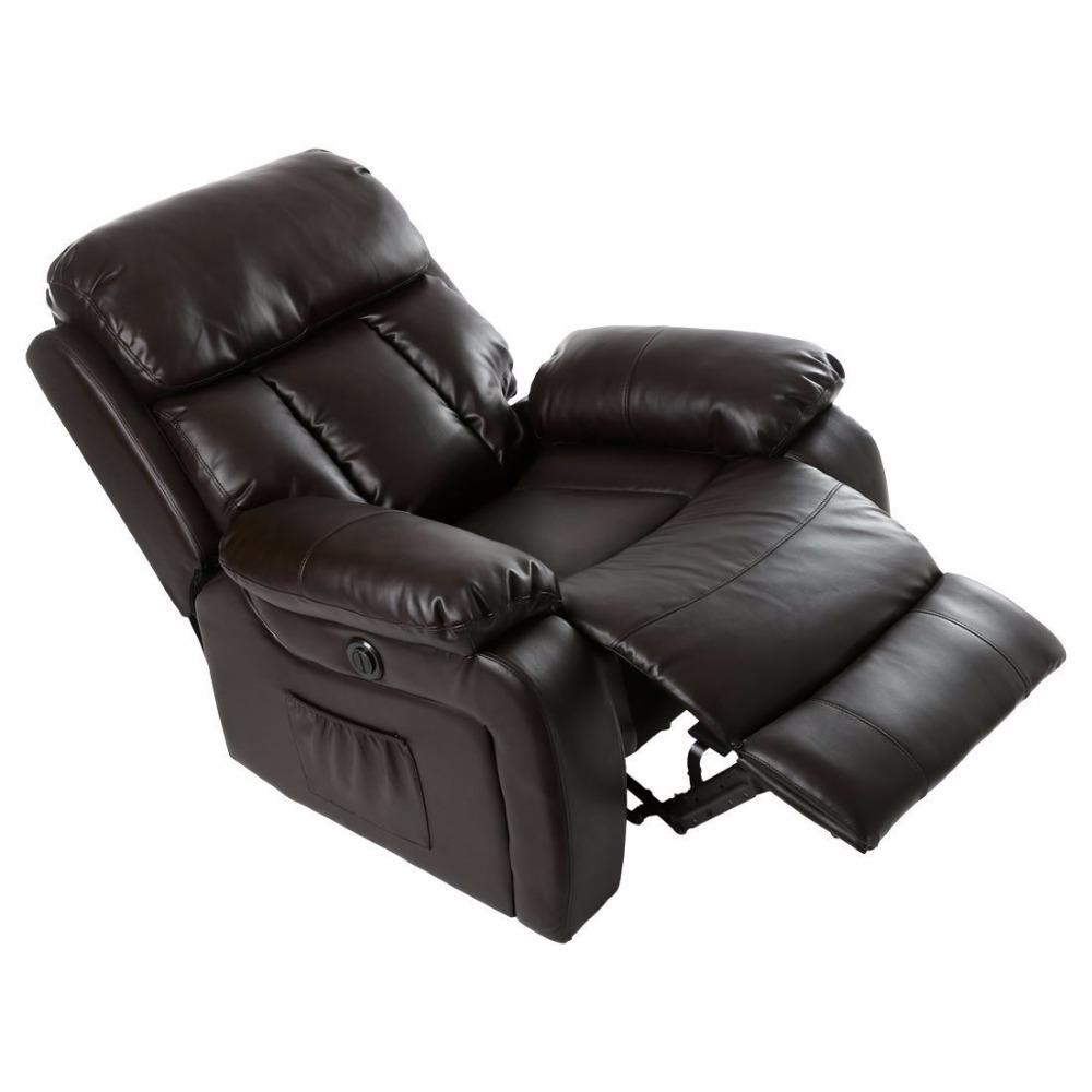 Acrofine Leather Heating Massage Cinema Recliner Chair Sofa