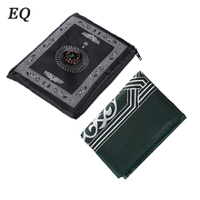wholesale kashmir prayer rug with compass Portable Islamic Prayer Mat with Compass Qibla finder