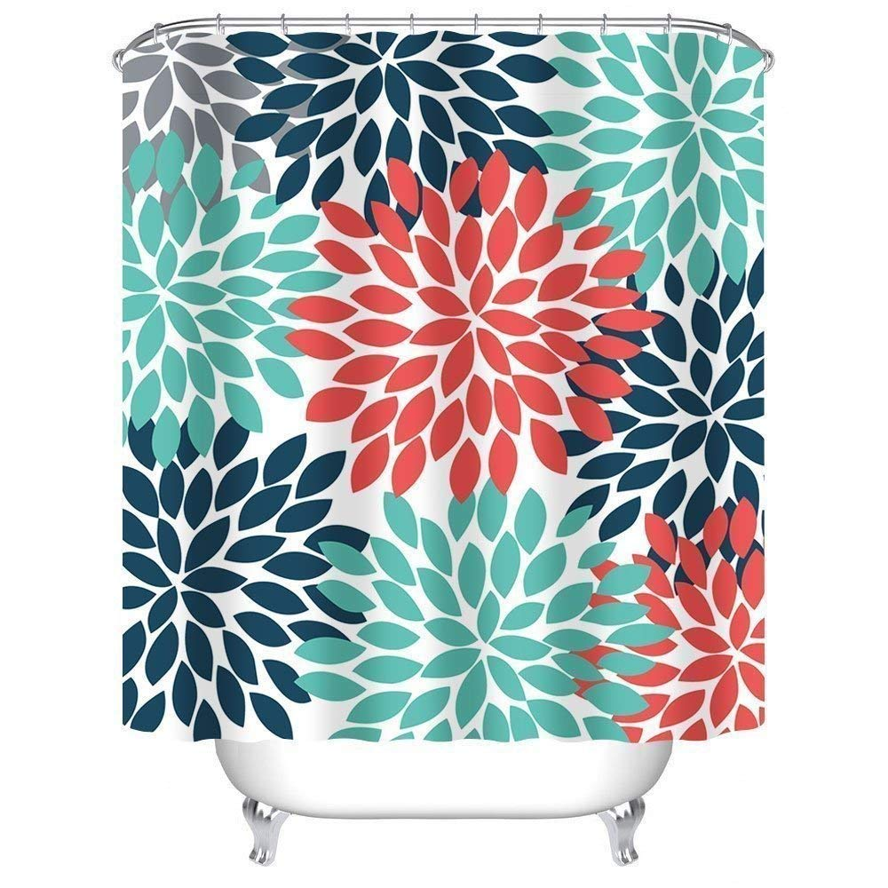 Get Quotations Shower Curtain Extra Long 72 X 96 InchesMulticolor Dahlia Pinnata Flower Customized Bathroom