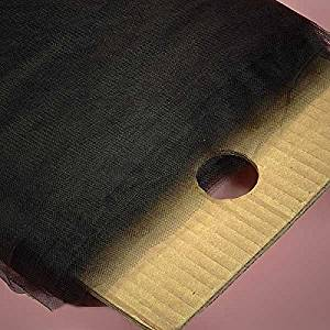 """Fabric Cloth Black Tulle Bolt 54"""" X 40 Yards - Fabric by Paper Mart"""