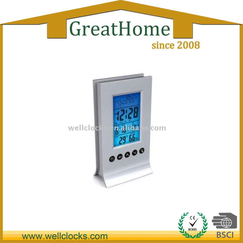 LCD digital Travel Clock with world time