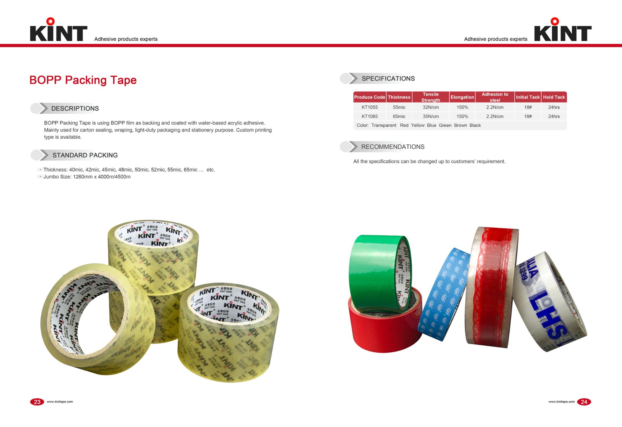 High quality transparent BOPP carton packing tape