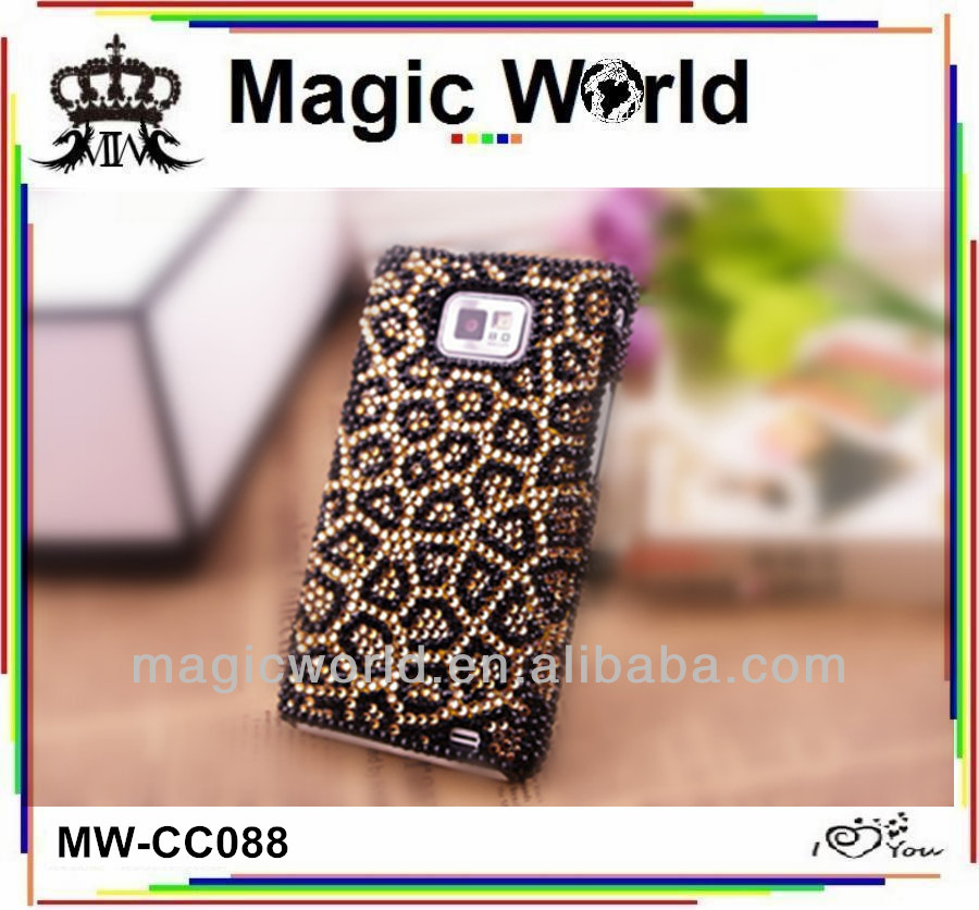 rhinestone bling phone cases for samsung galaxy s2