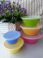 New Development Screw Solid Color Melamine Mixing Bowl Set For Promotion