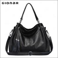 Casual Handbags Fringed Leather Female Free Catalog Shoe and Handbag Sets