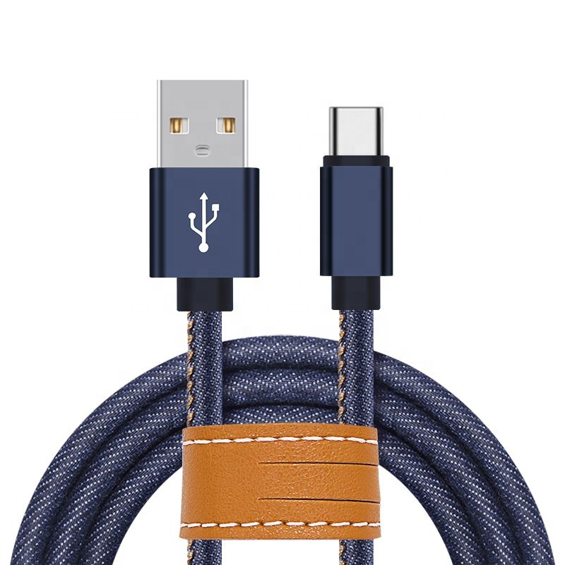 For Iphone Apple Data Charge Cable Cord 1M 2A Jeans Durable USB Cable