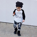 2016 baby boy clothing set long sleeve T shirt Camo pants 2pcs suit Infant roupas bebe