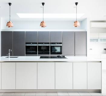 Hotel White Wooden Kitchen Cabinet Layout For Furniture Designs