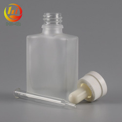 white clear 30 ml vape bottle essential oil 30ml black rectangular frost glass dropper bottle