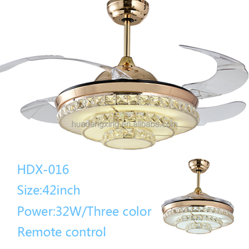 High quality 42 inch 36W LED wall controlled ceiling fan with hidden blades