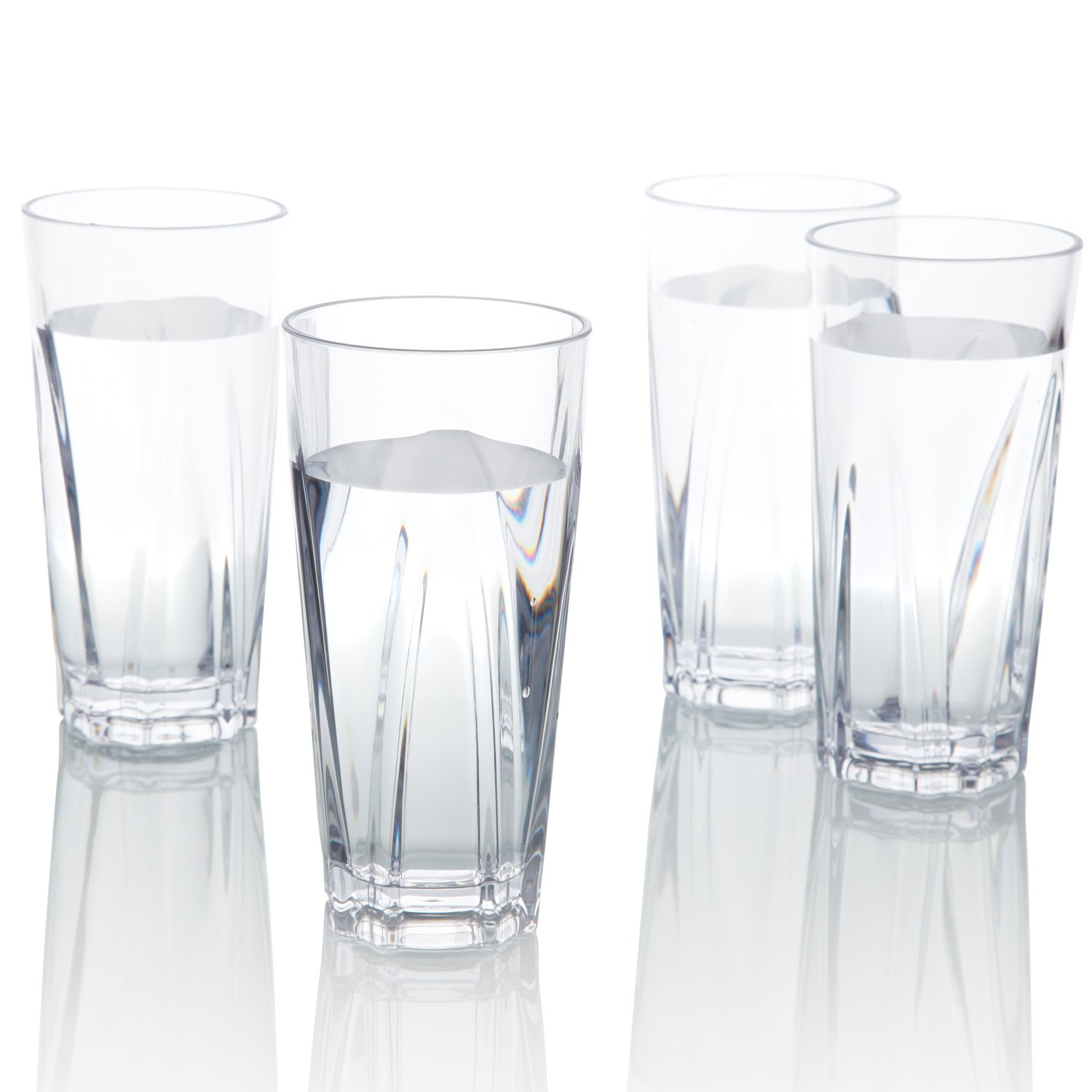 6f43f52b9472 Get Quotations · Plastic Water Tumblers, PEMOTech [4 Pack] 16 Oz Restaurant  Quality Clear Acrylic Drinking