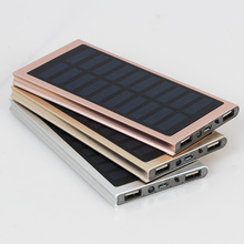 2017 High Quality Mobile Phone Solar Charger 8000mah Solar Power Bank 10000mah