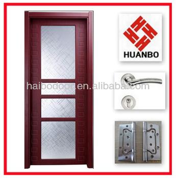 Modern design pvc wooden interior bathroom door buy for Pvc bathroom door designs