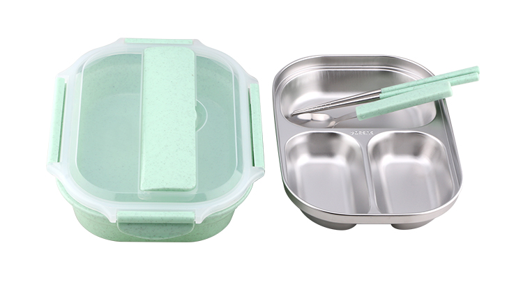 304 material kid square stainless steel lunch box stainless steel hot lunch box lunch box with compartments