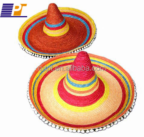 Supply top-grade high quality woven straw sombrero for children