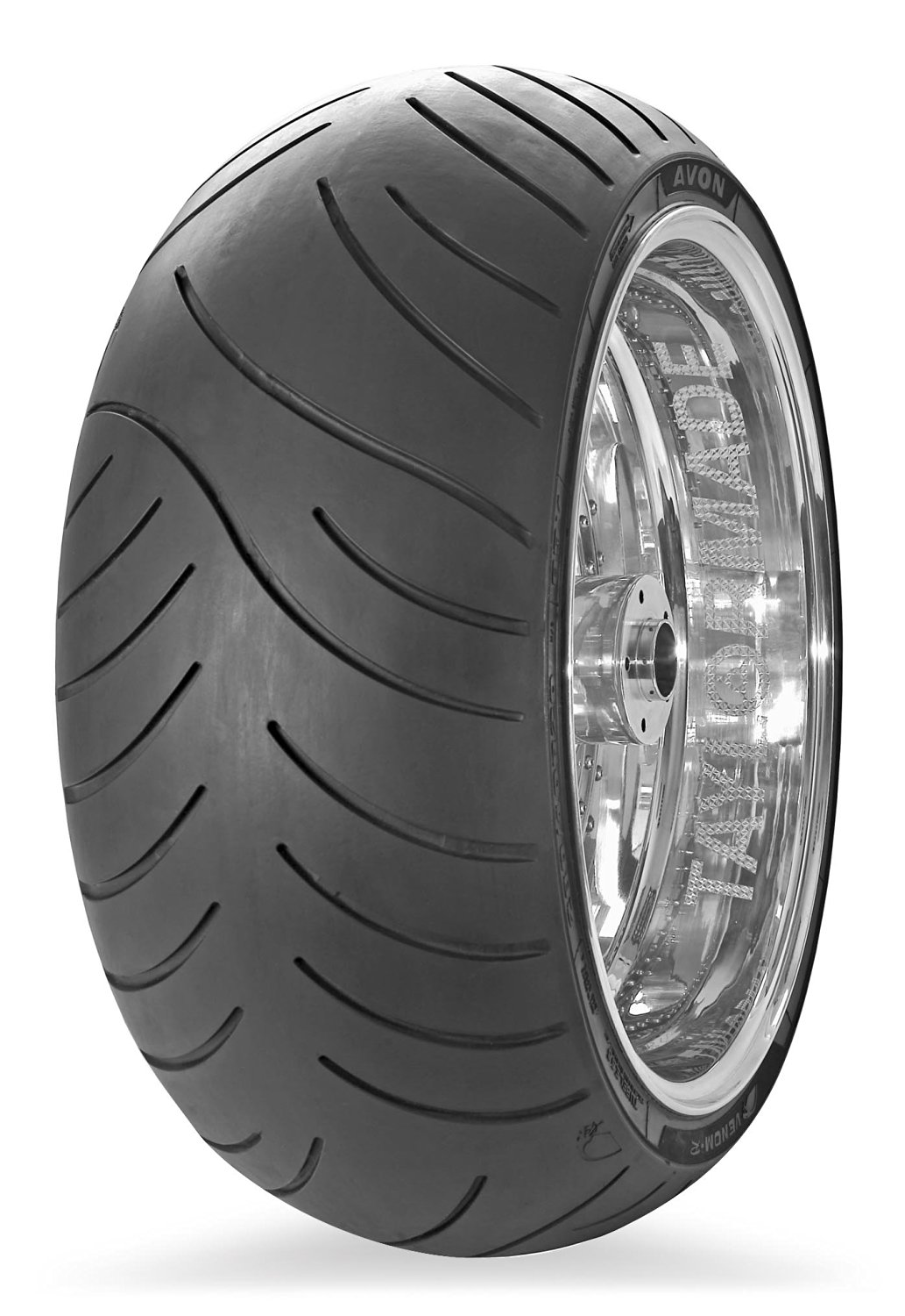 Avon Tyres Venom R Tire - Rear - 180/55R-18 , Position: Rear, Load Rating: 74, Speed Rating: V, Tire Size: 180/55-18, Rim Size: 18, Tire Type: Street, Tire Application: Sport, Tire Construction: Radial 4953913