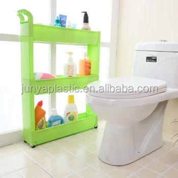 7011 Three Layers Plastic Living Room Corner Shelf Rack For Small Kitchen Magic Bathroom