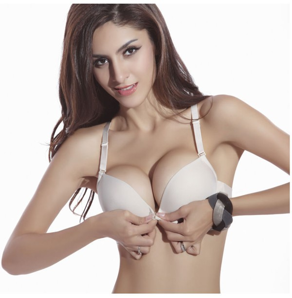 e3b61ee3f8 Get Quotations · 2015 women cute cheap bras sexy front closure plush up  sport nute bralette bra