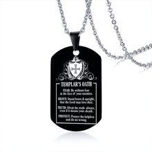 Мужские черные ожерелья из нержавеющей стали Vnox, с гравировкой, по индивидуальному заказу, бирка с подвеской, подарки для украшения для папы...(Китай)