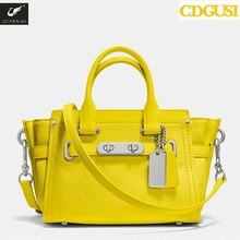 Women Fashion Solid Candy Colors Simple PU Leather Handbag Big Shoulder Bags Solid Totes