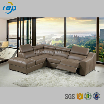 2017 Hotel Furniture Modern Recliner Kuka Sectional Leather Sofa
