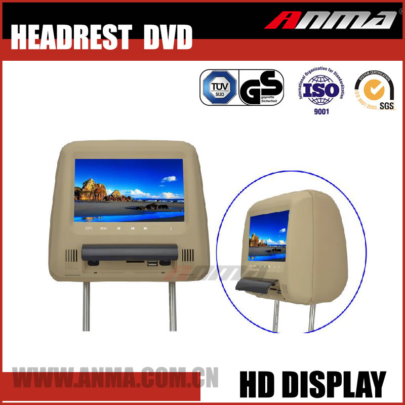 usb headrest dvd player fm radio