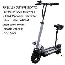 Электрический скутер на большие расстояния 100 км 48 в 500 Вт 26AH литиевая батарея 10 дюймов мощный Электрический скейтборд Patinete Electrico Adulto(Китай)