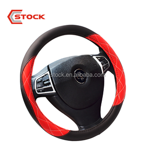 Breathability Skidproof PVC Leather Car Steering Wheel Cover