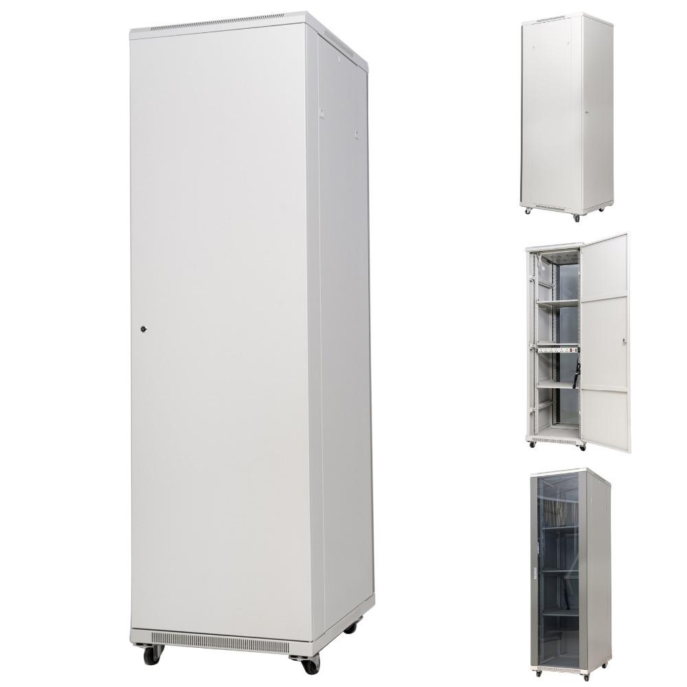 1U Side Entry Brush Grommet Cable Manager Server Rack Wire Management System