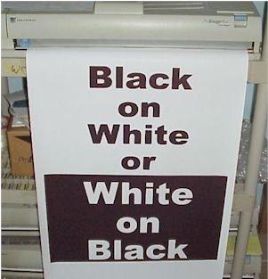 "Variquest / Fujifilm / Varitronics Poster Paper (DTP) 23"" x 100' Rolls - Black on White"