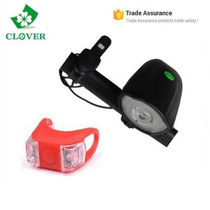 Bike light set rear and front light 300 lumens USB rechargeable speaker bicycle light set