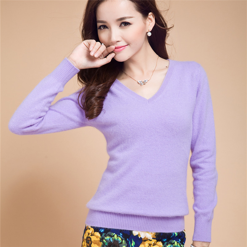 New2015 Sweater Women Spring Knitted Pullovers Long Sleeve V Neck Slim Knitwear Summer Style Knitted Jumper