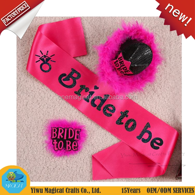 Hen's Party Satin Bride To Be Sash for Party Event