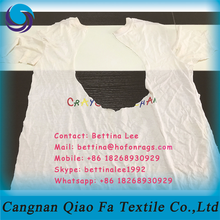 Bulk White Cleaning Oil Waste Rags Of T Shirt Cotton Material Sold ...